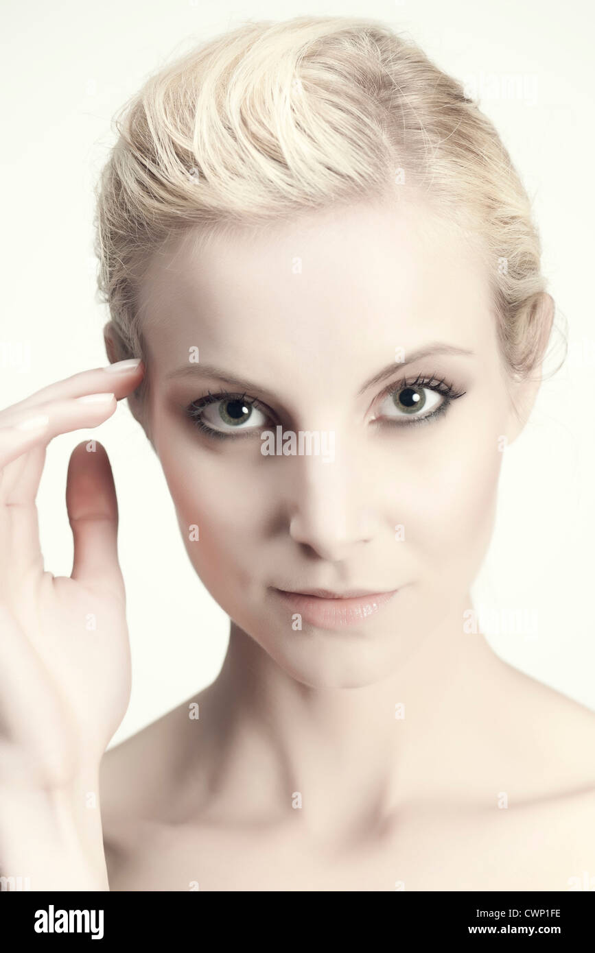 Young woman, portrait Photo Stock