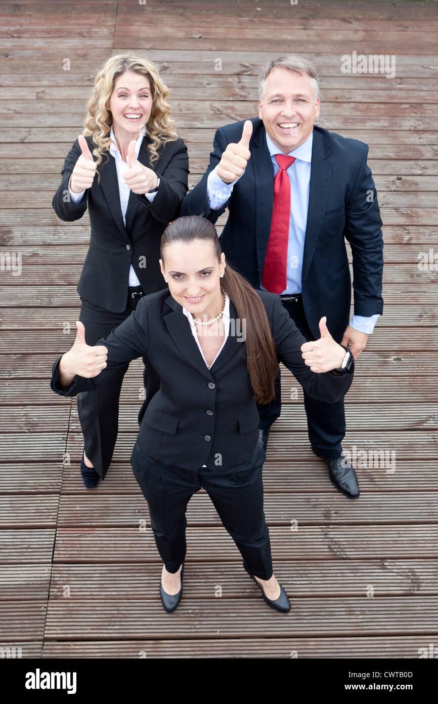 Trois affaires optimiste Photo Stock