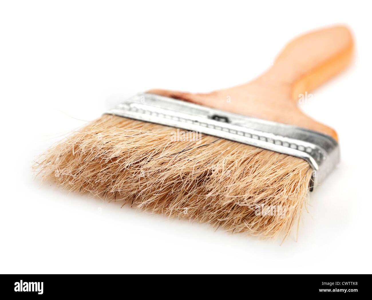 Pinceau outil à manche en bois Photo Stock