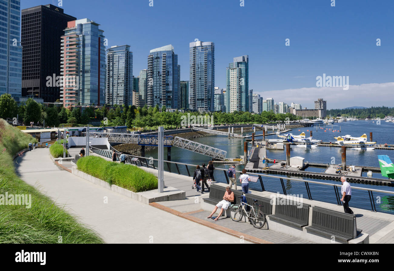 Vancouver, Canada - city waterfront Photo Stock