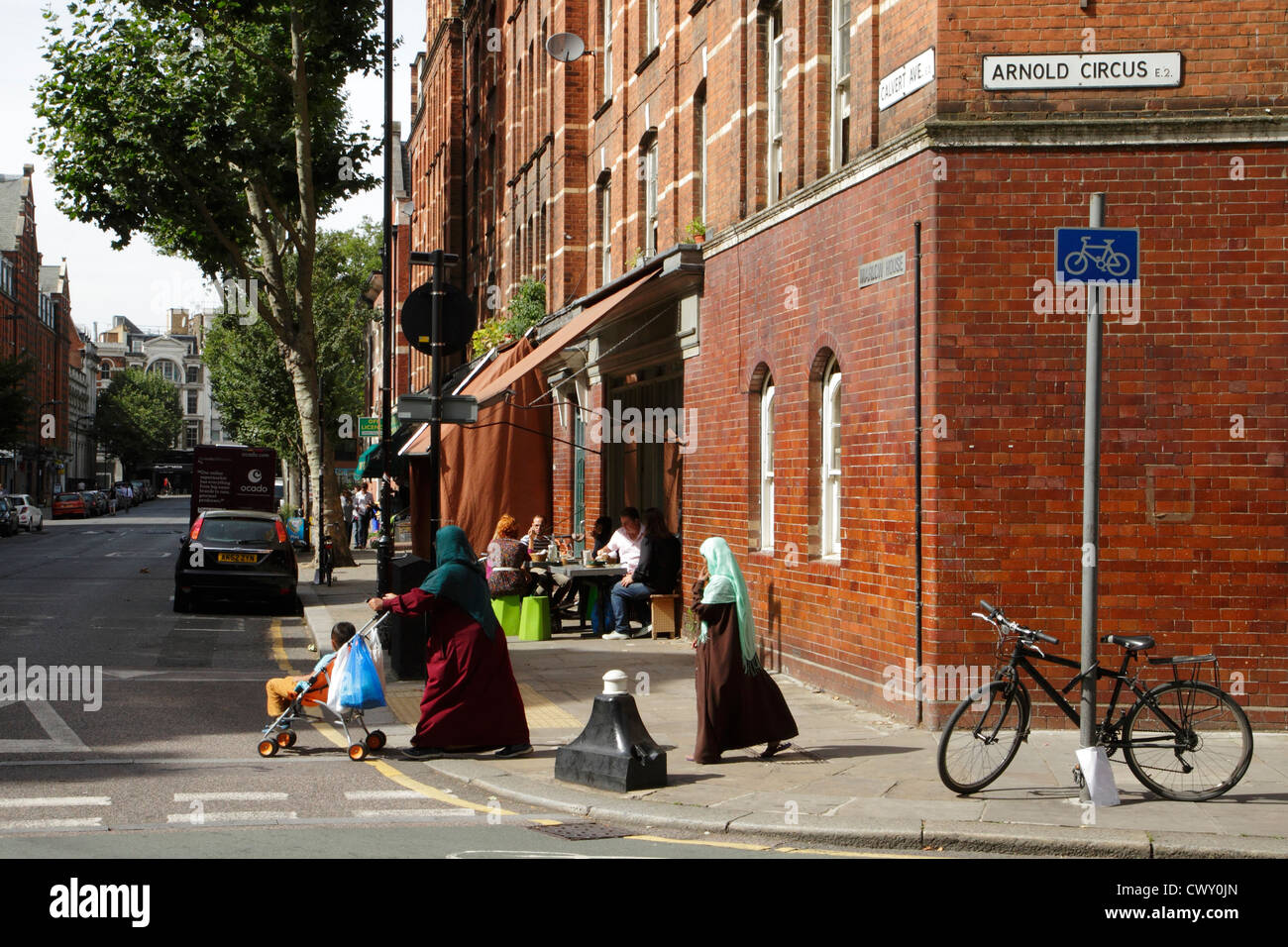 Arnold Circus, Boundary Estate, Bethnal Green, Londres, UK Photo Stock