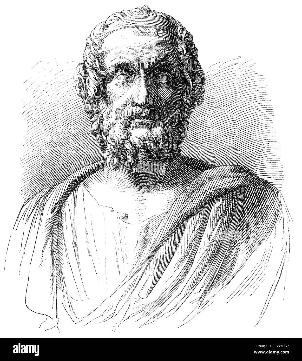 Homer, poète de l'antiquité, l'auteur de l'Iliade et l'Odyssée, Photo Stock