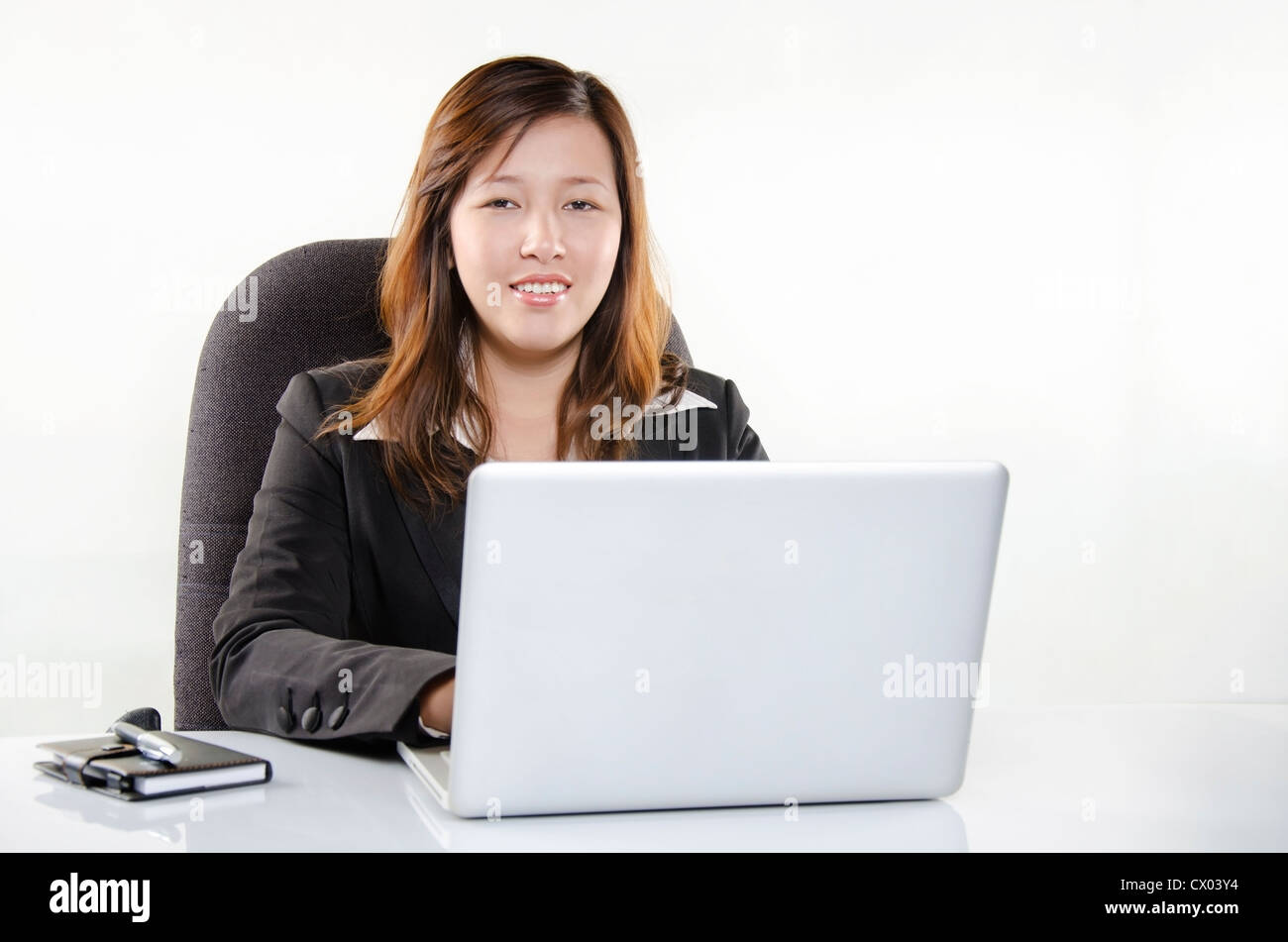 Beautiful businesswoman smiling Photo Stock