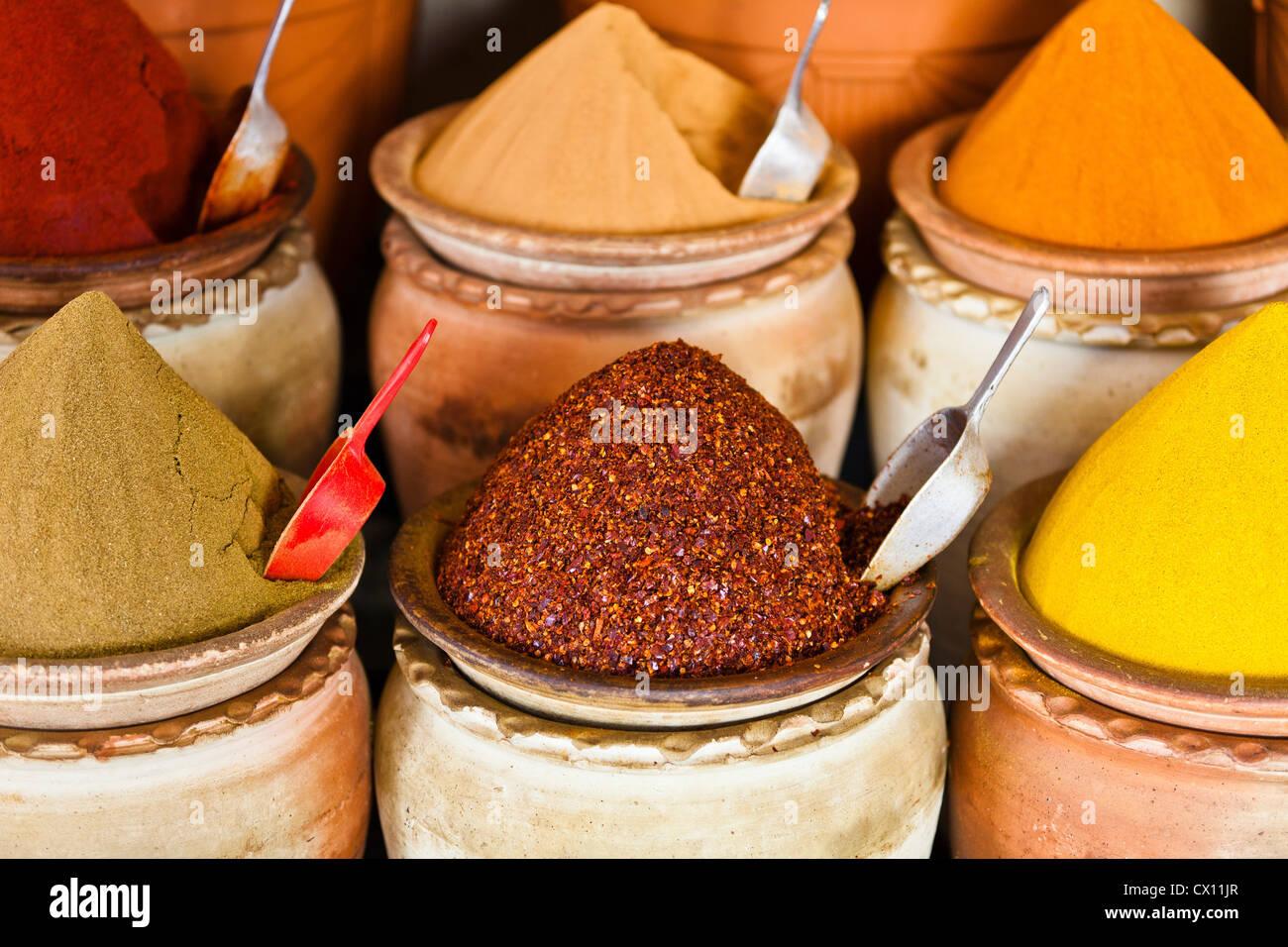 Spice market, Houmt Souk, Djerba, Tunisie Photo Stock