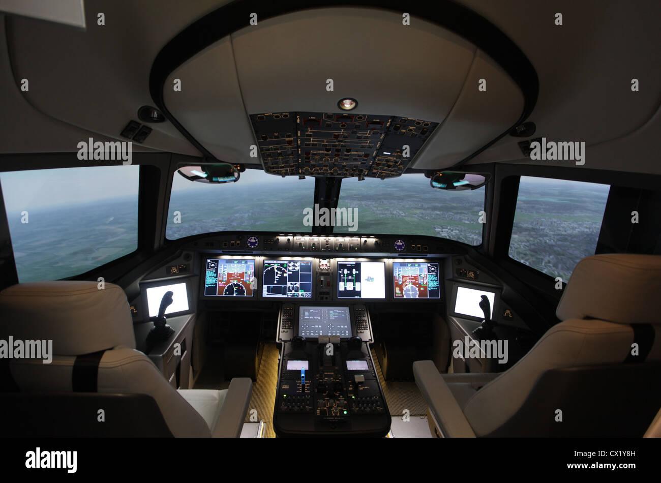 L'agence ITAR-TASS: PARIS, FRANCE. Le 20 juin 2011. Pilotage d'Irkut Corporation du MS-21 famille avions exposés Banque D'Images