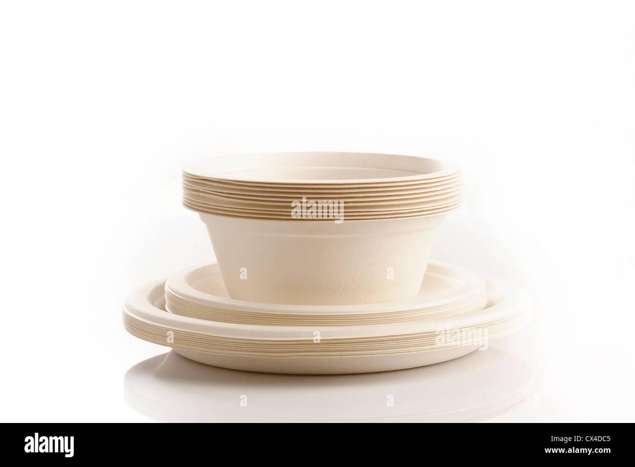 L'emballage pour la santé et l'environnement on white Photo Stock