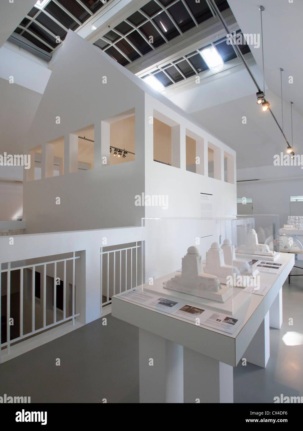Architecture d'intérieur de l'Allemagne Museum de Francfort Allemagne Photo Stock