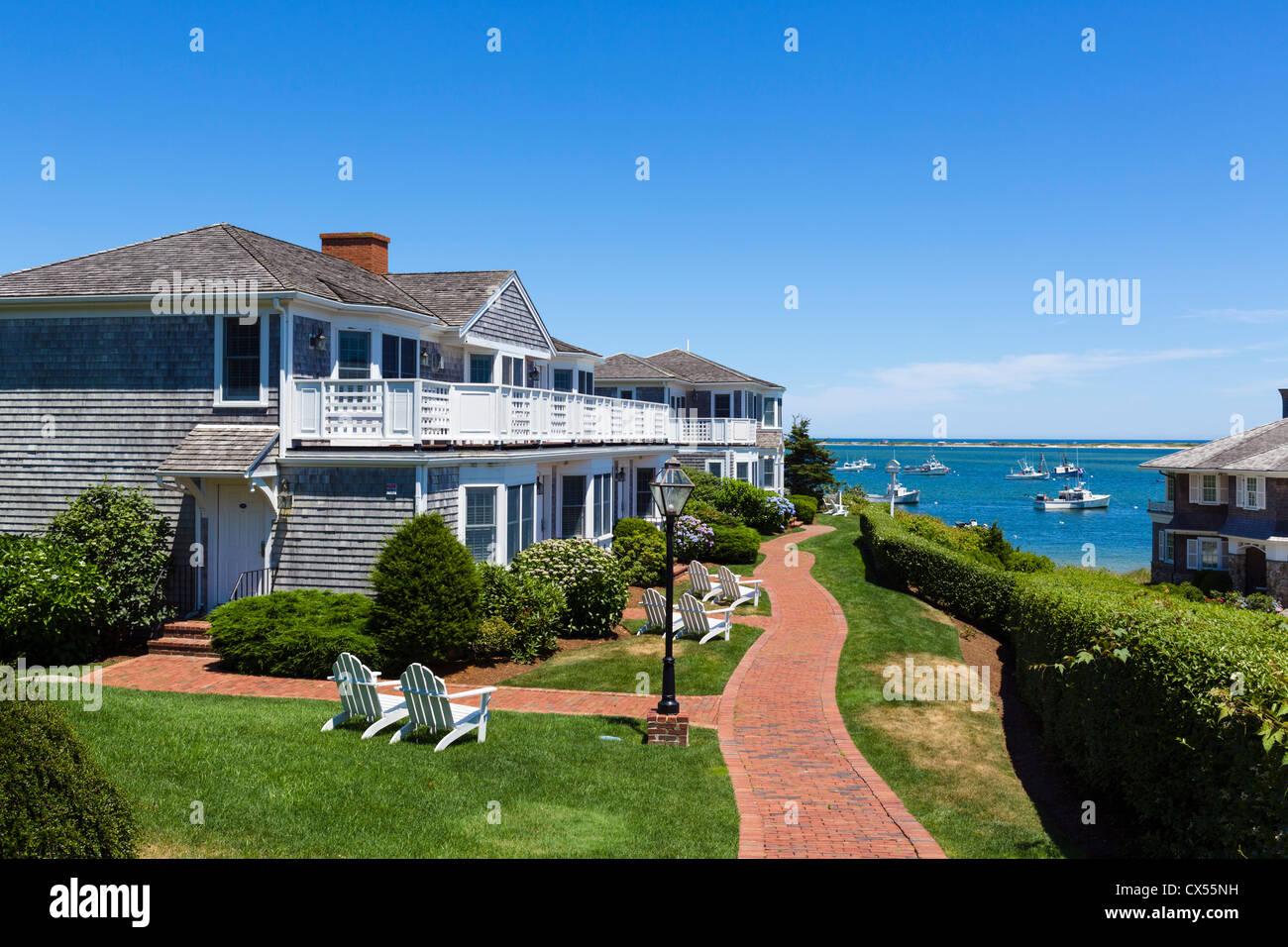 Appartements en bord de mer dans la région de Chatham, Cape Cod, Massachusetts, USA Photo Stock