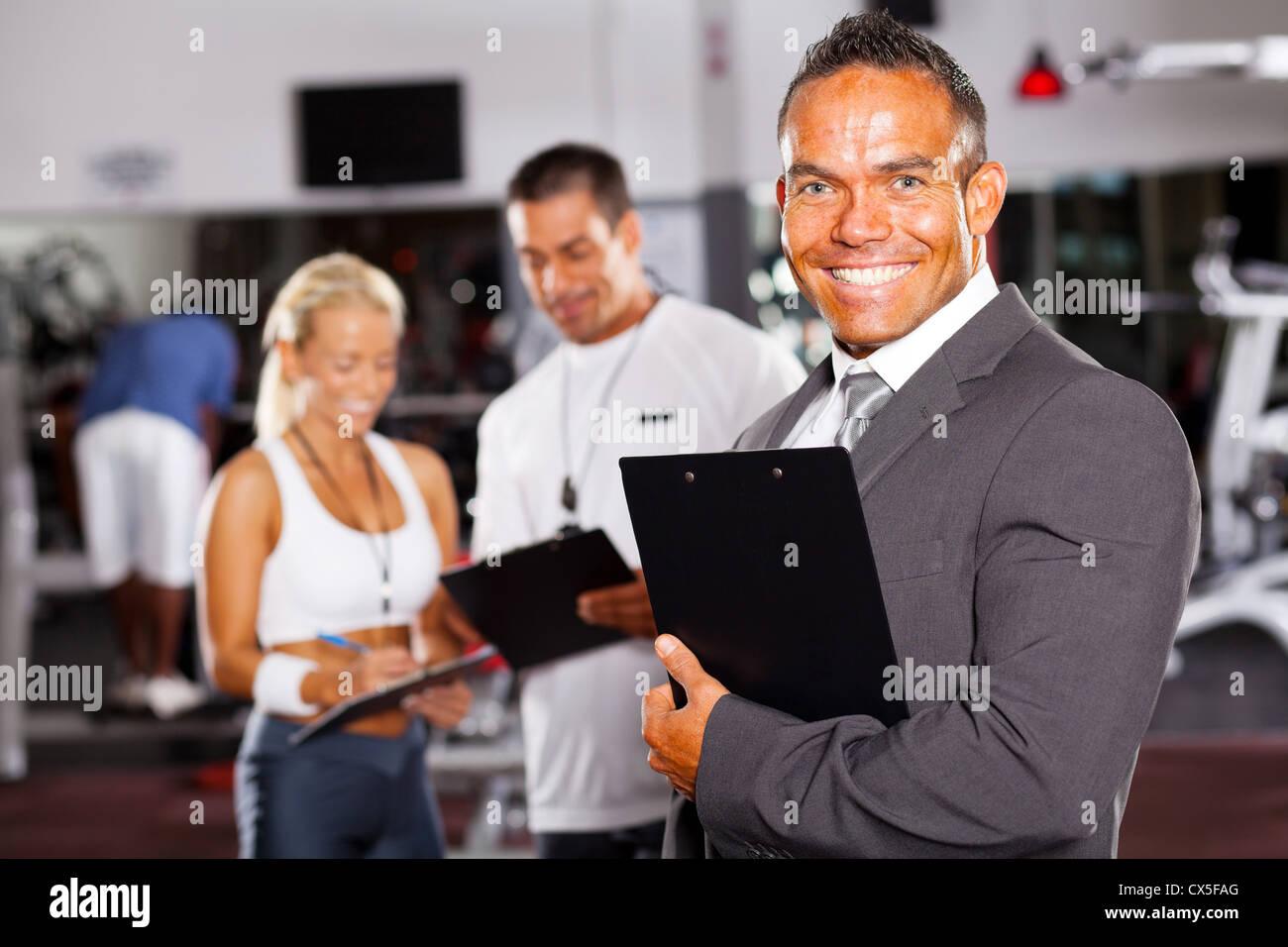 Confiant de sport manager et le personnel Banque D'Images