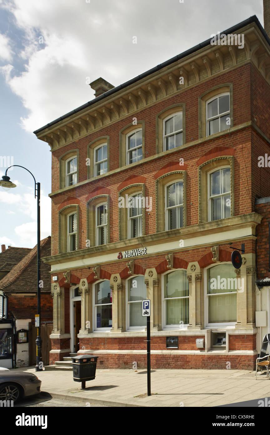 Ashford, Kent. La banque NatWest Photo Stock