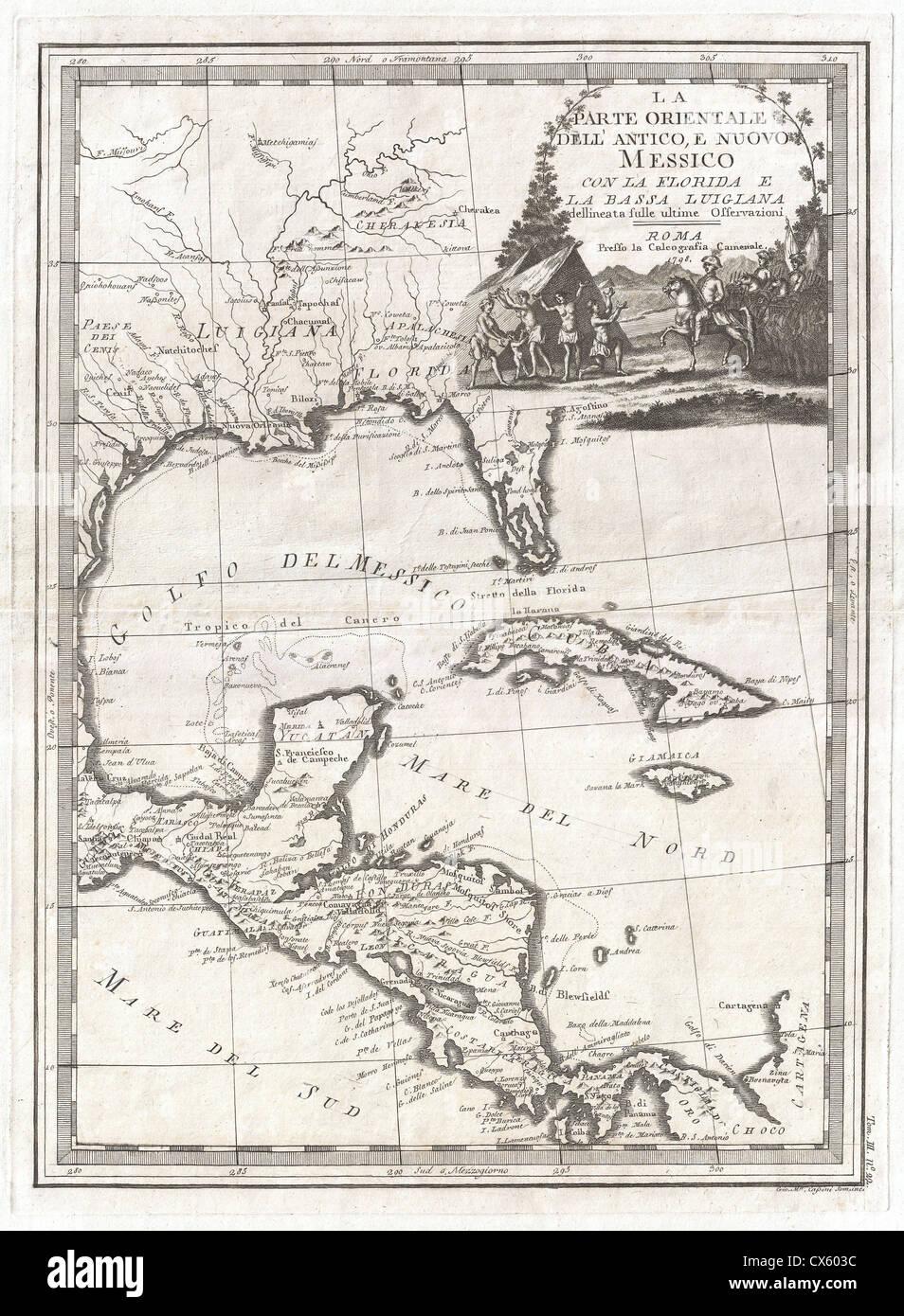 Carte Cuba Amerique.1798 Carte De Cassini De Floride Louisiane Cuba Et L Amerique