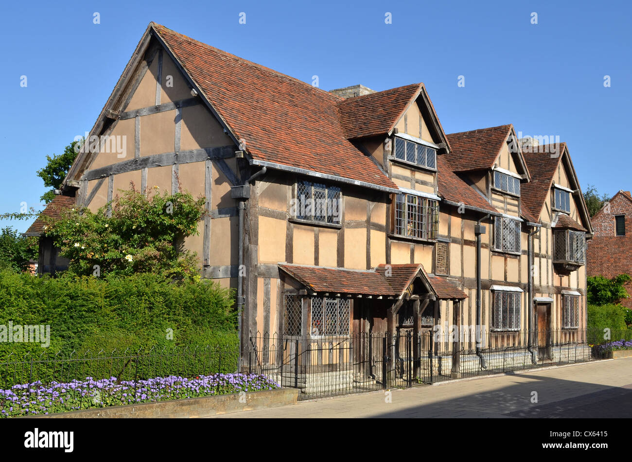 Stratford-upon-Avon, lieu de naissance de Shakespeare, Warwickshire, UK Photo Stock