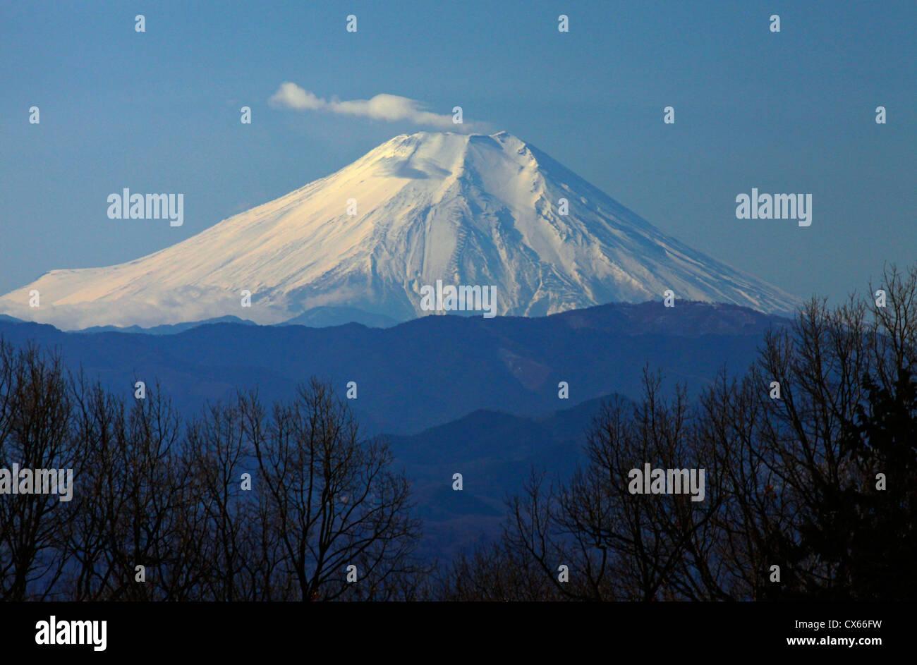 Le Mont Fuji vue de Rokudoyama park Tokyo Japon Photo Stock