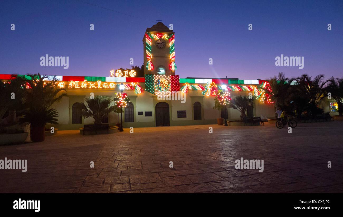 Édifice municipal, San Jose, Baja, au Mexique Photo Stock