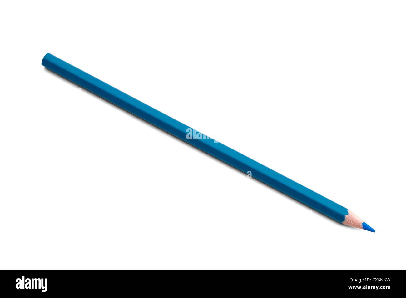 Crayon de couleur - bleu Photo Stock
