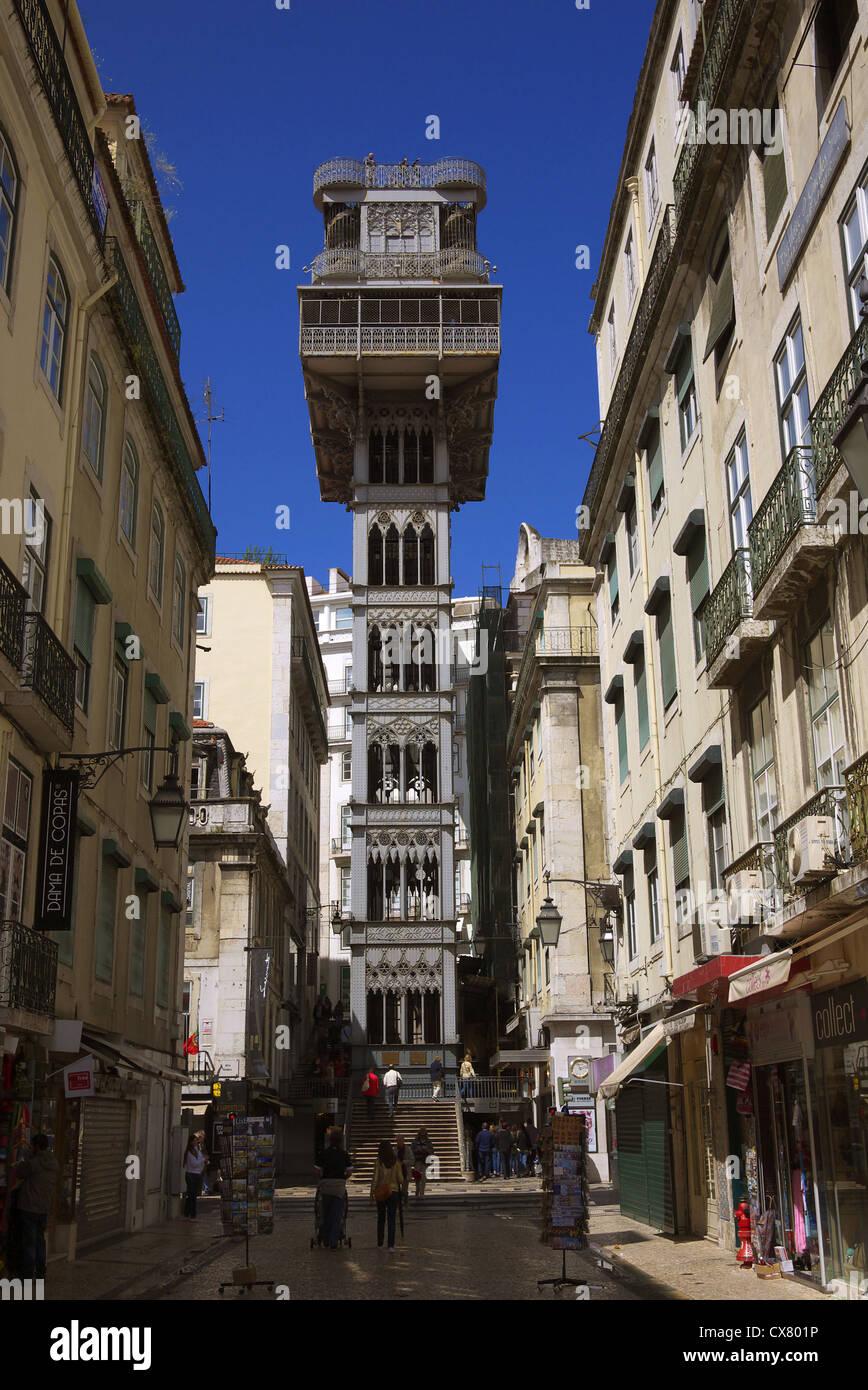 San Justa à Lisbonne, Portugal. Photo Stock