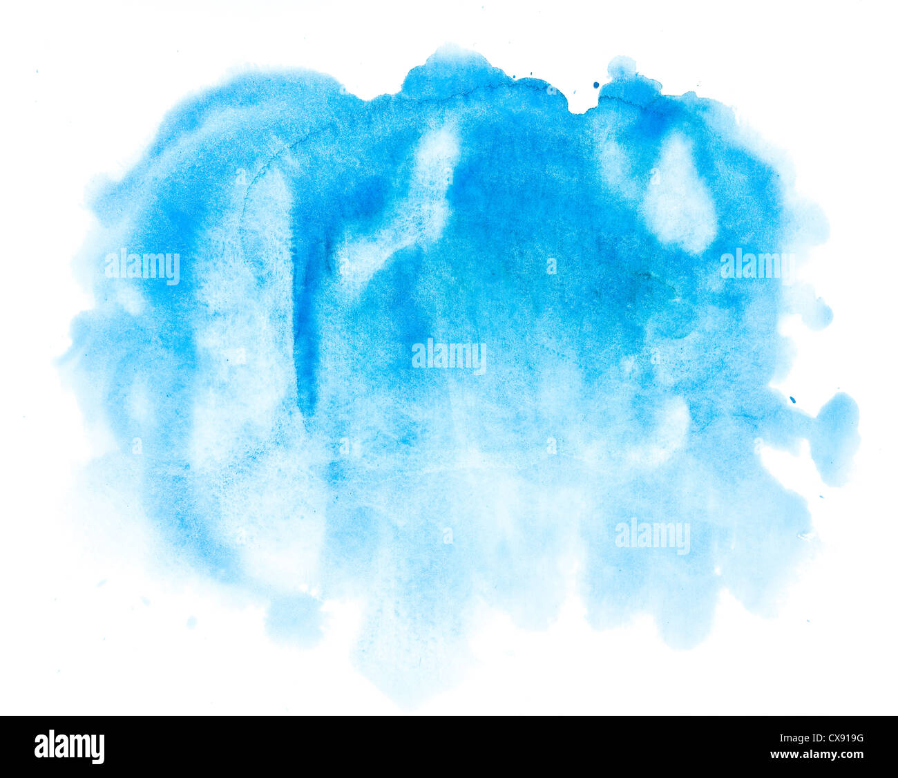 Résumé fond bleu aquarelle Photo Stock