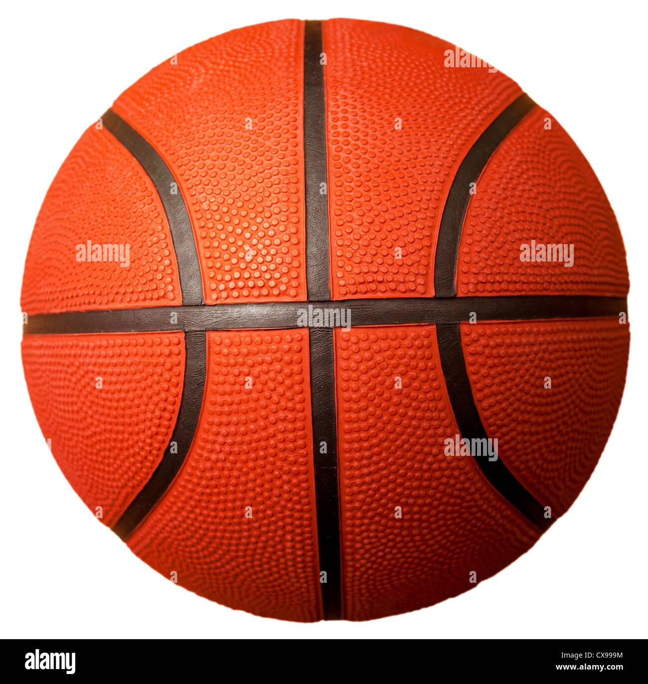 Basket-ball ball isolated on white Photo Stock