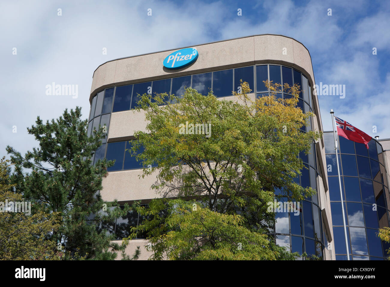 Bureau de l'entreprise pharmaceutique Pfizer, Mississauga, Ontario, Canada Photo Stock