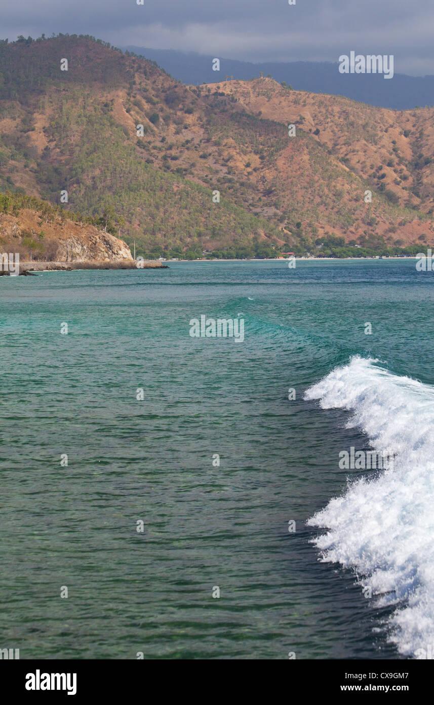 L'autre rive et de Dili, au Timor oriental Banque D'Images
