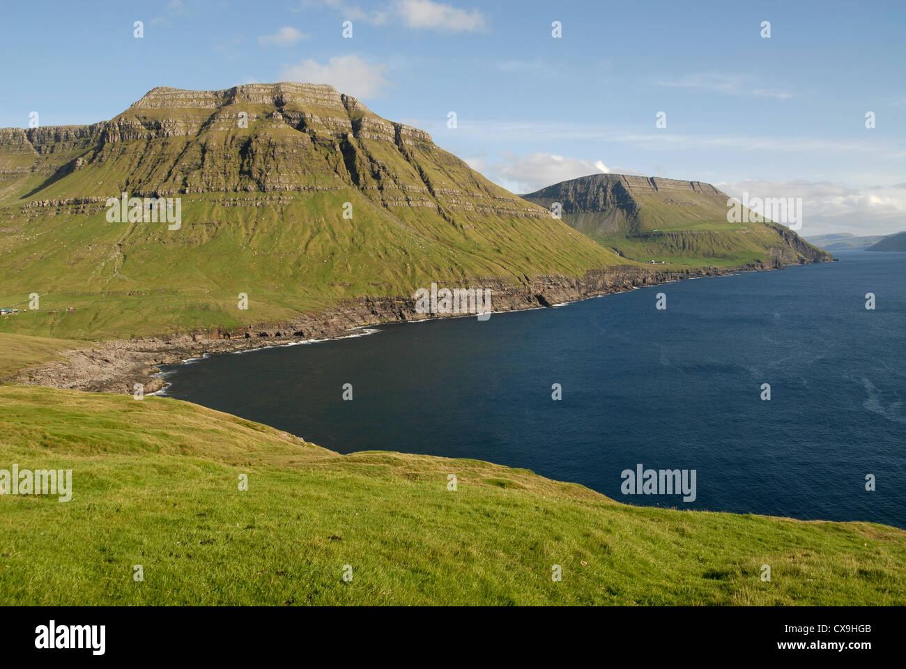 Paysage sur Streymoy, Îles Féroé (près de Nordradalsvegur) Photo Stock