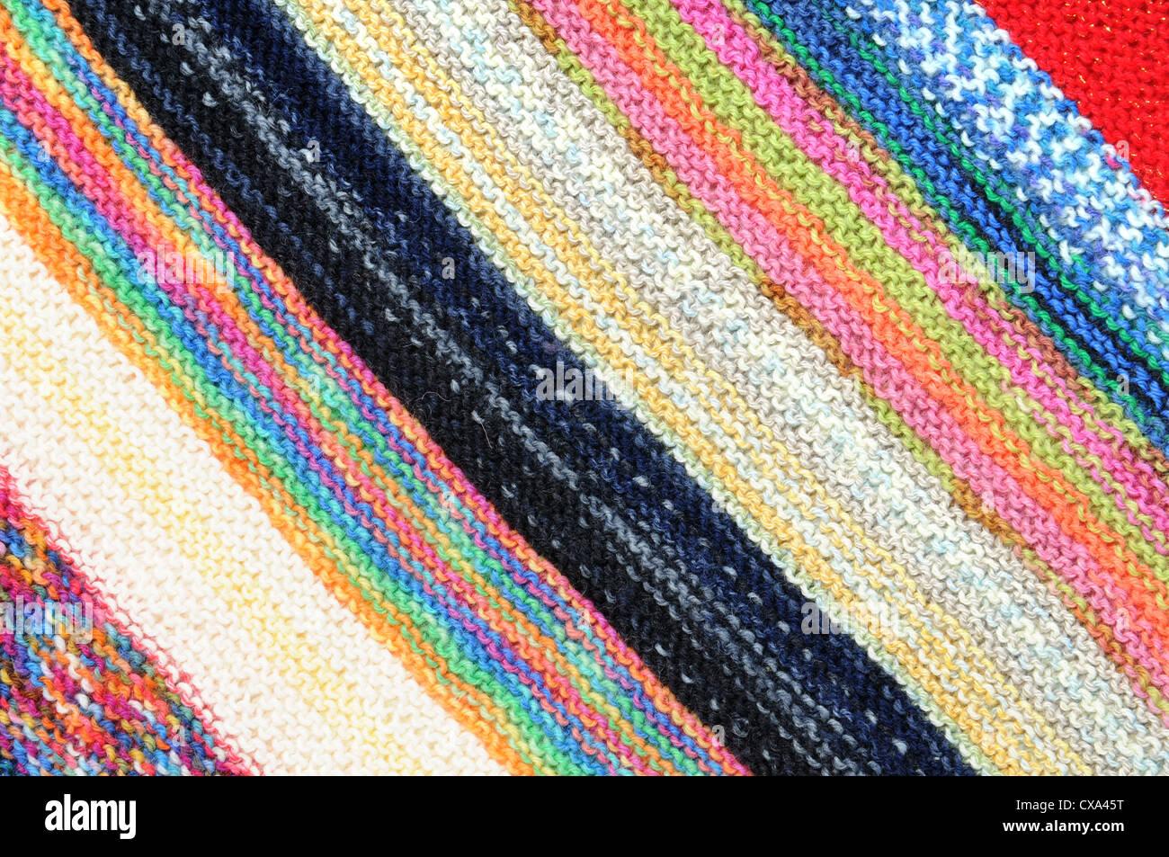 La laine dans un motif coloré Banque D'Images