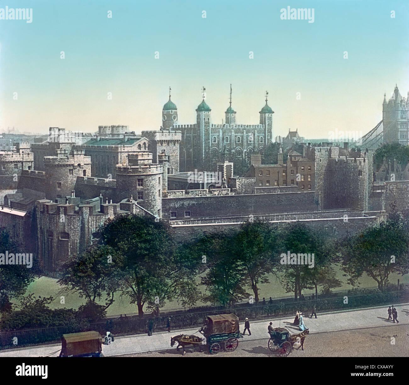 Tour de Londres, Londres, Angleterre, 1897 Banque D'Images