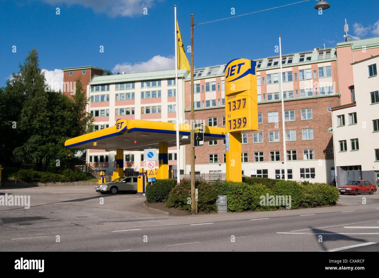 La station d'essence jet de carburant stations détaillant diesel véhicules automatisés avant Photo Stock