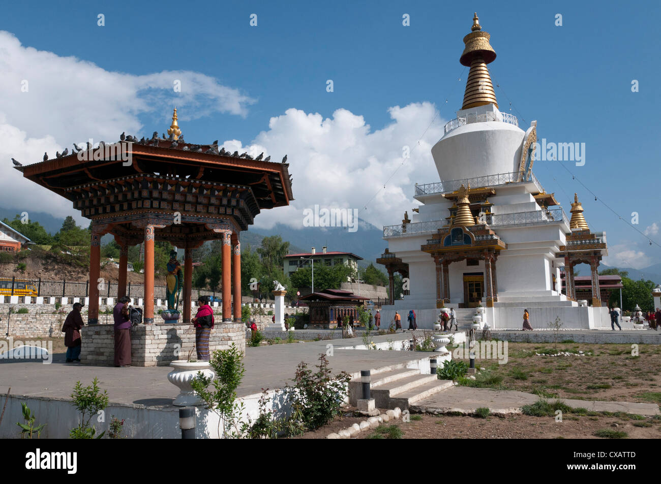 National Memorial Chorten, Thimphu, Bhoutan, Asie Photo Stock