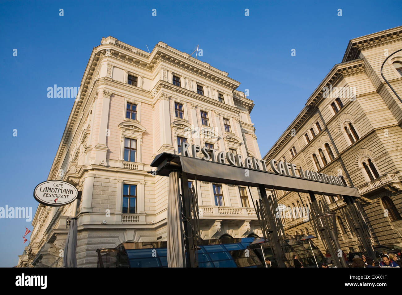 Café Landtmann, Vienne, Autriche, Europe Photo Stock
