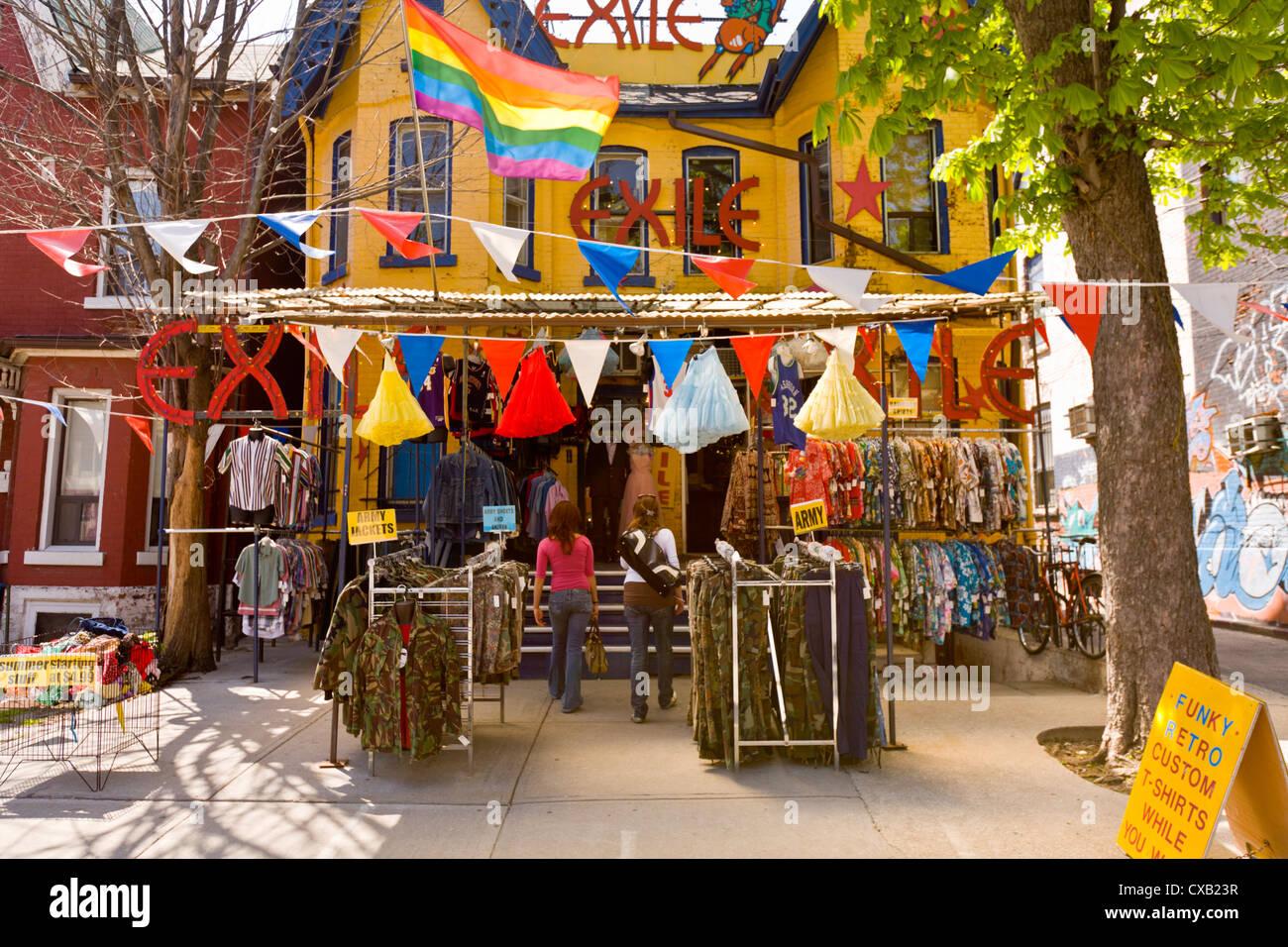 Kensington Market, reconnue comme un lieu historique national du Canada, Toronto, Ontario, Canada, Amérique Photo Stock