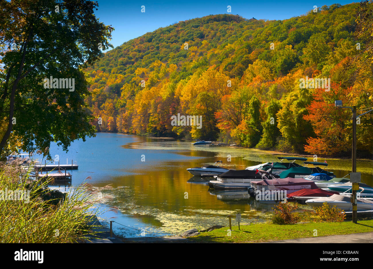 Candlewood Lake, New York, la Nouvelle-Angleterre, États-Unis d'Amérique, Amérique du Nord Photo Stock