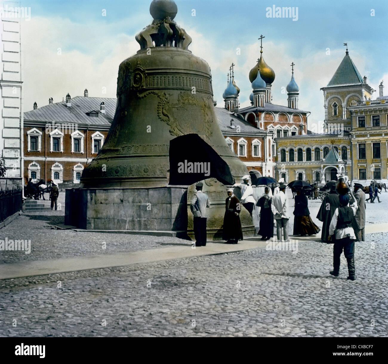 La cloche du Tsar, le Kremlin, Moscou, Russie, 1901 Banque D'Images