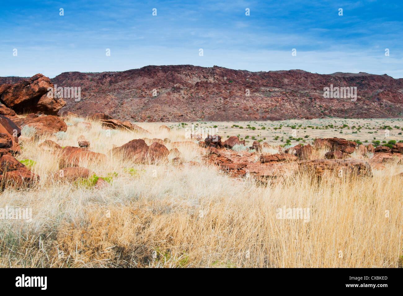 Twyfelfontein, site du patrimoine mondial de l'UNESCO, la région de Kunene, Damaraland, Namibie, Afrique Banque D'Images