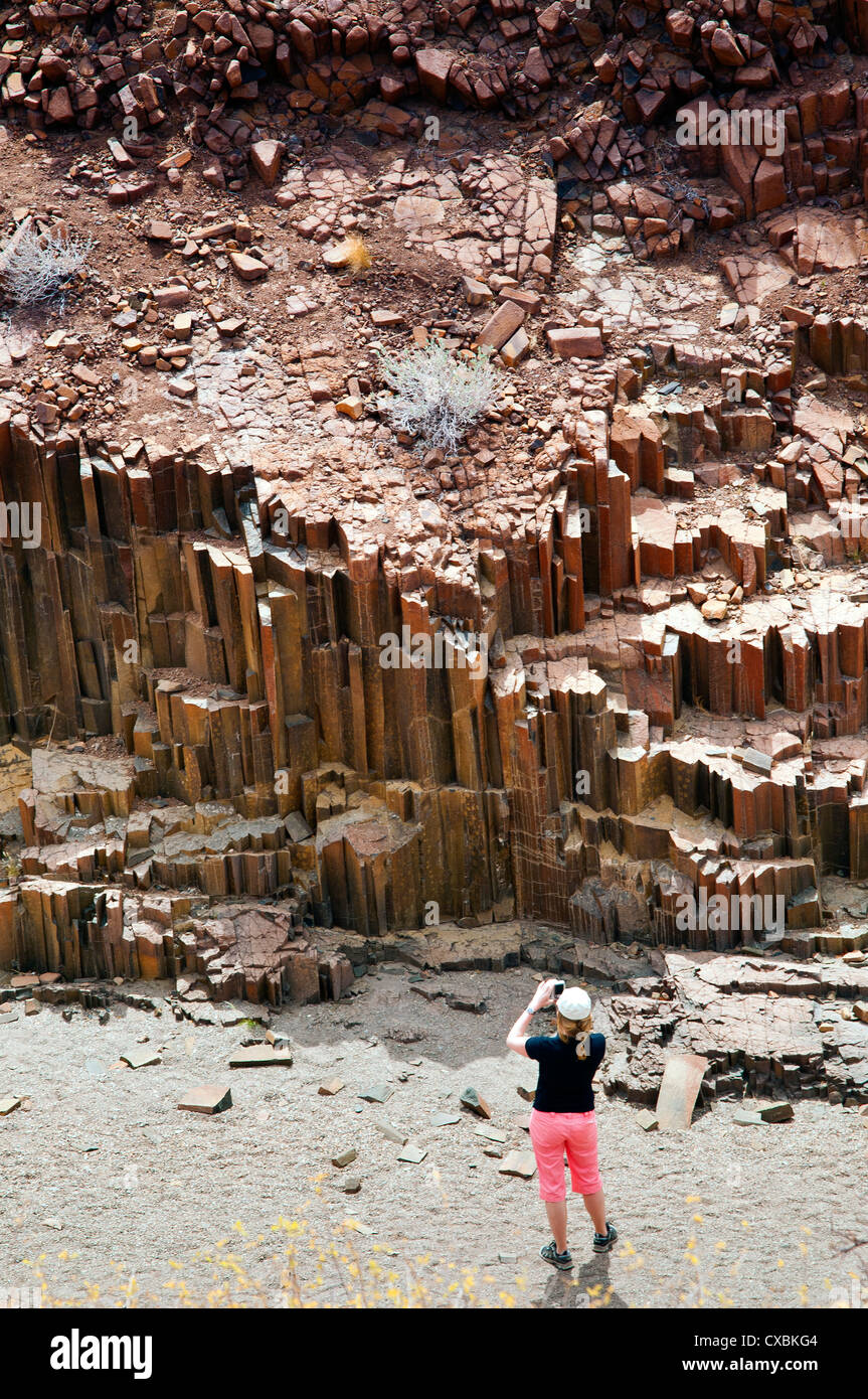 Vallée des tuyaux d'orgue, Damaraland, région de Kunene, Namibie, Afrique Banque D'Images