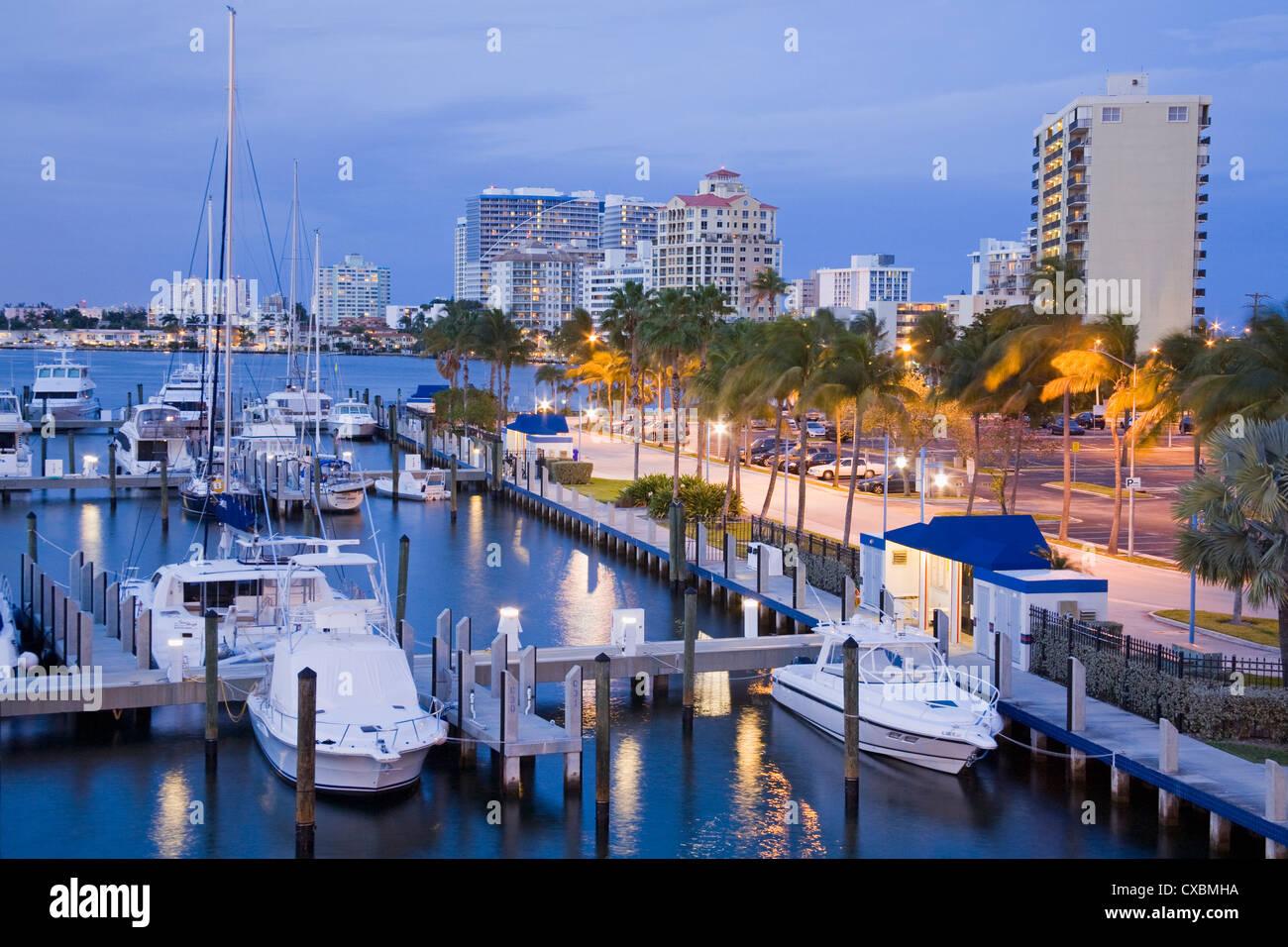 Intercoastal Waterway, Fort Lauderdale, comté de Broward, Floride, États-Unis d'Amérique, Amérique Photo Stock