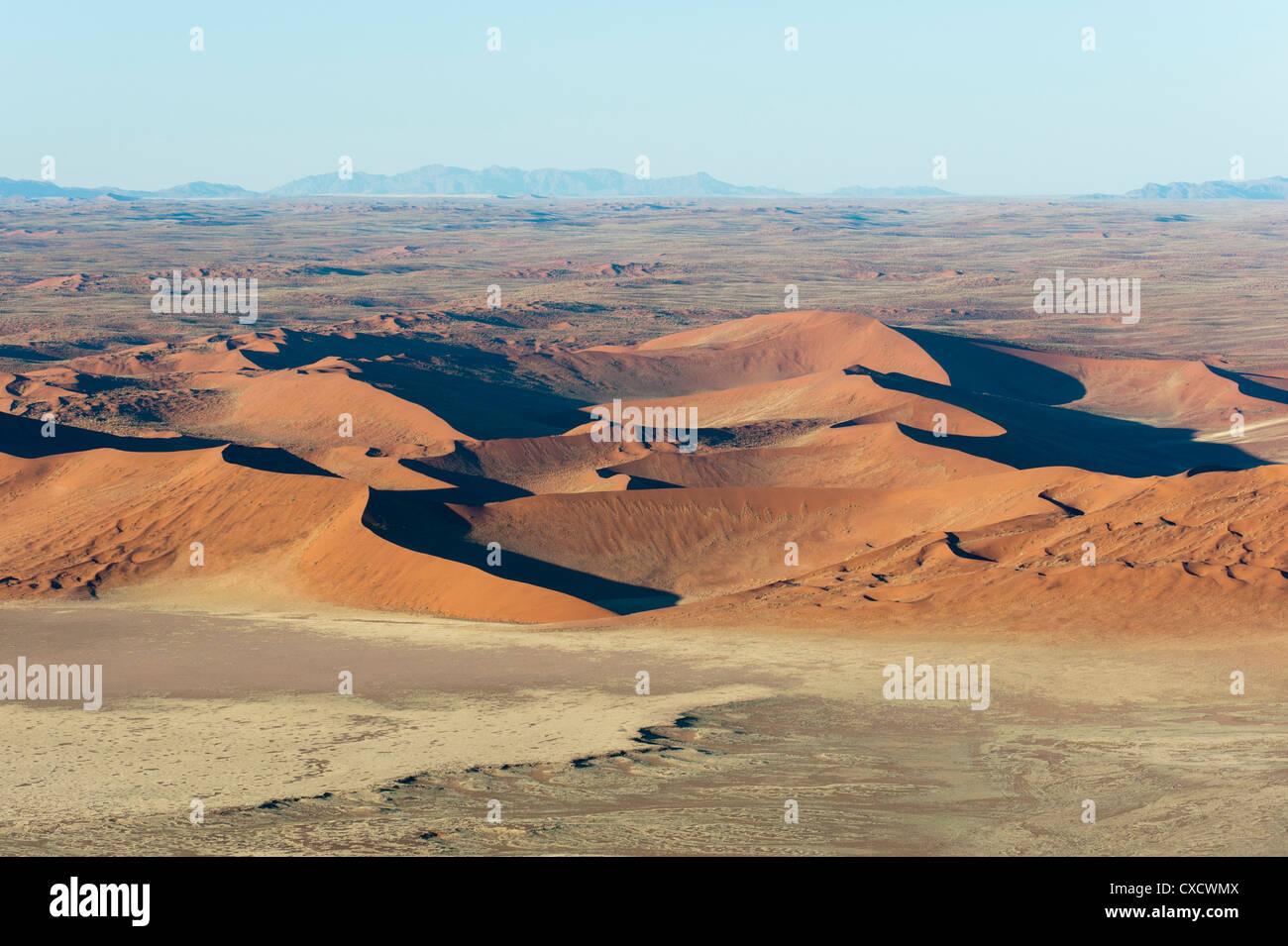 Vue aérienne, Namib Naukluft Park, Désert du Namib, Namibie, Afrique Photo Stock