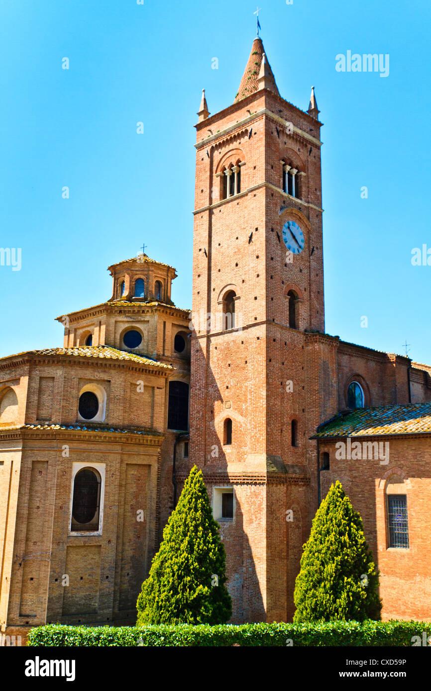 Abbaye bénédictine de Monte Oliveto Maggiore en Toscane (Italie) Photo Stock