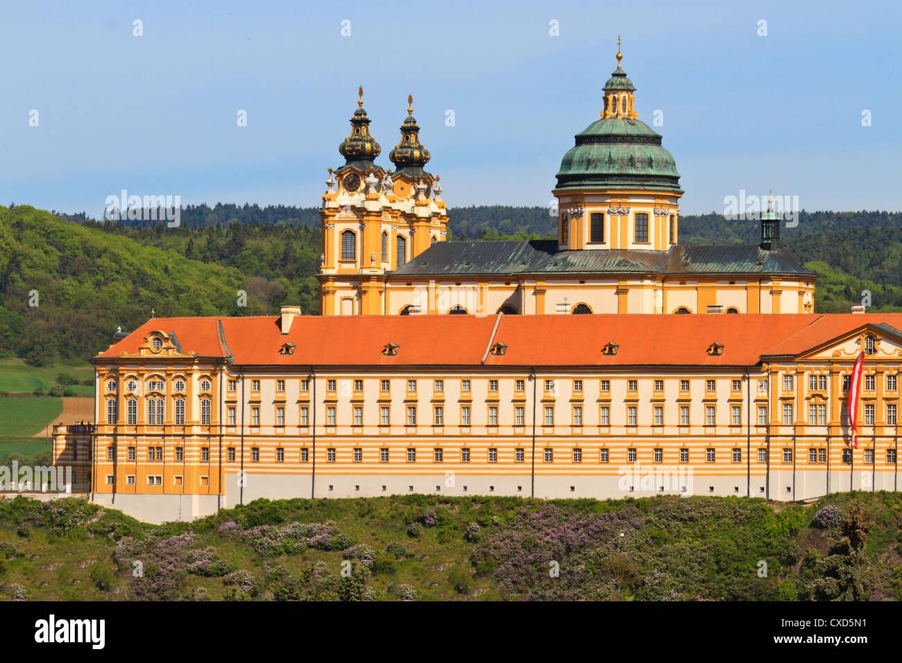 Abbaye de Melk est une abbaye bénédictine au monde et l'un des plus fameux sites monastiques Photo Stock