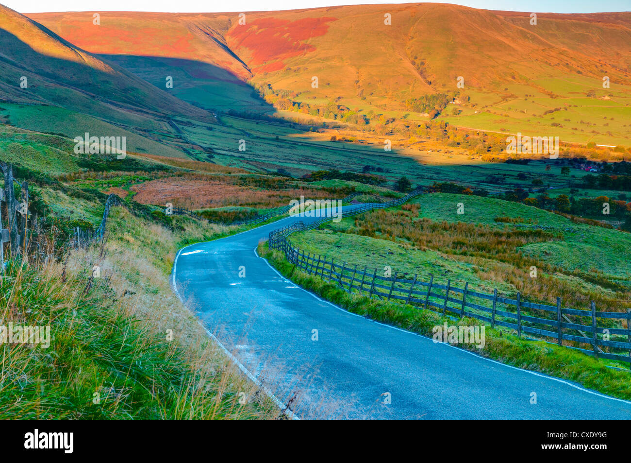 Vale de Edale, parc national de Peak District, Derbyshire, Angleterre Photo Stock