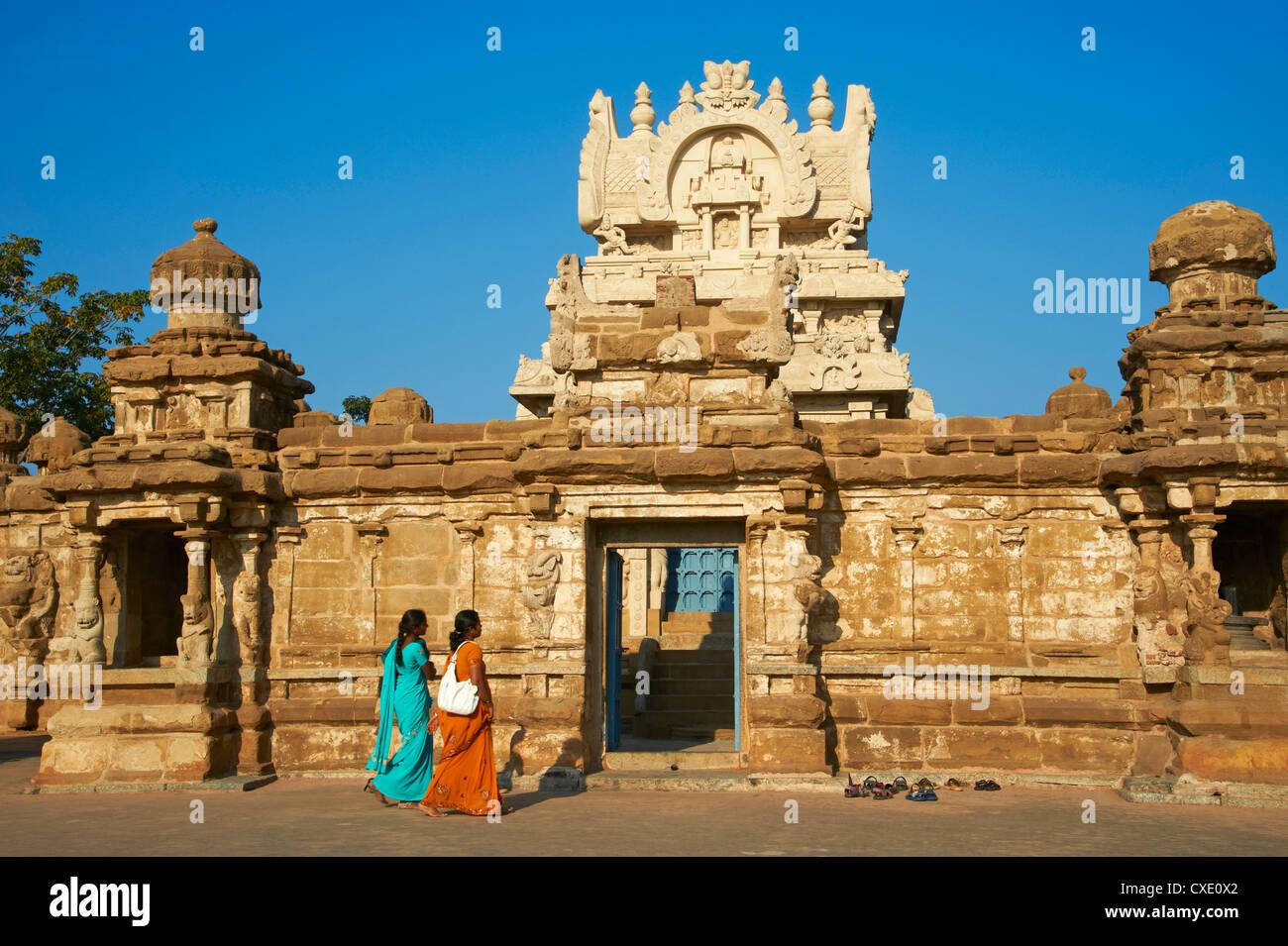 Temple Kailasanatha datant de 8ème siècle, Kanchipuram, Tamil Nadu, Inde, Asie Banque D'Images