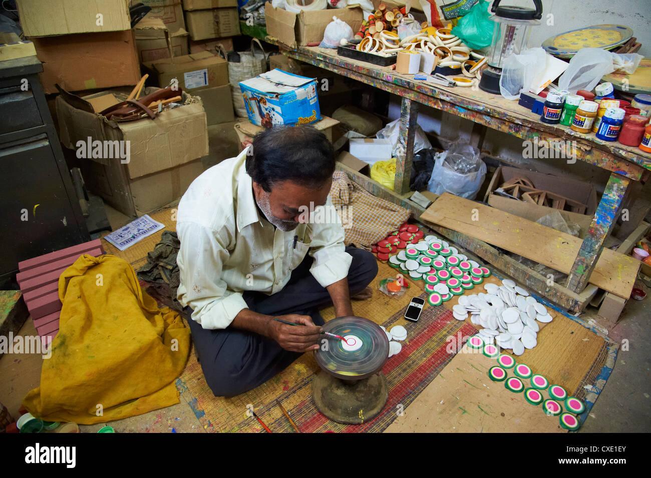 Village Channapatna, célèbre pour woden jouets, Mysore, Karnataka, Inde, Asie Photo Stock