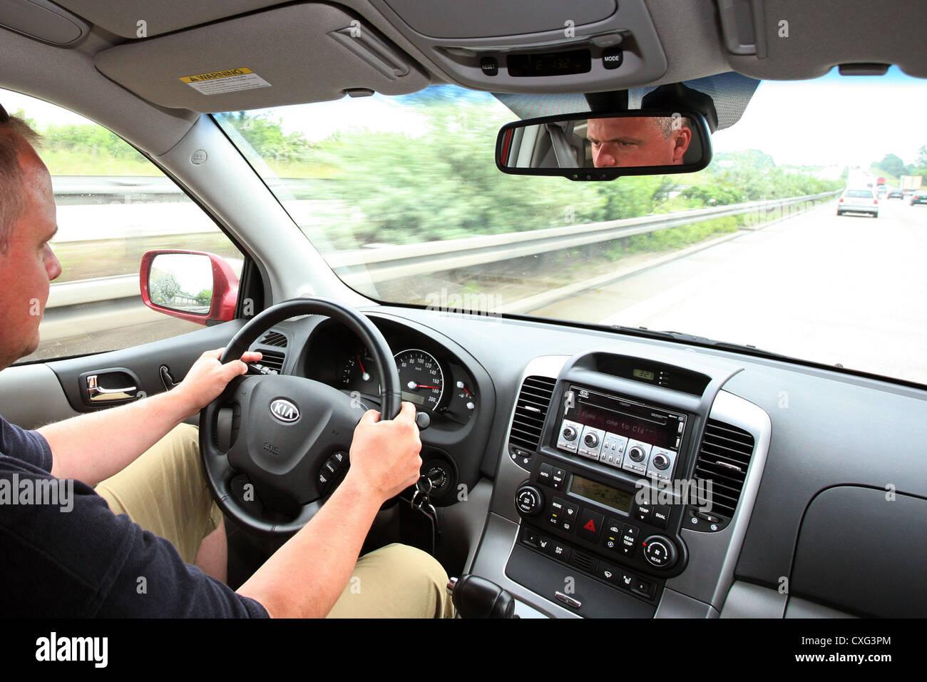 Berlin, tendu les automobilistes sur l'autoroute Photo Stock