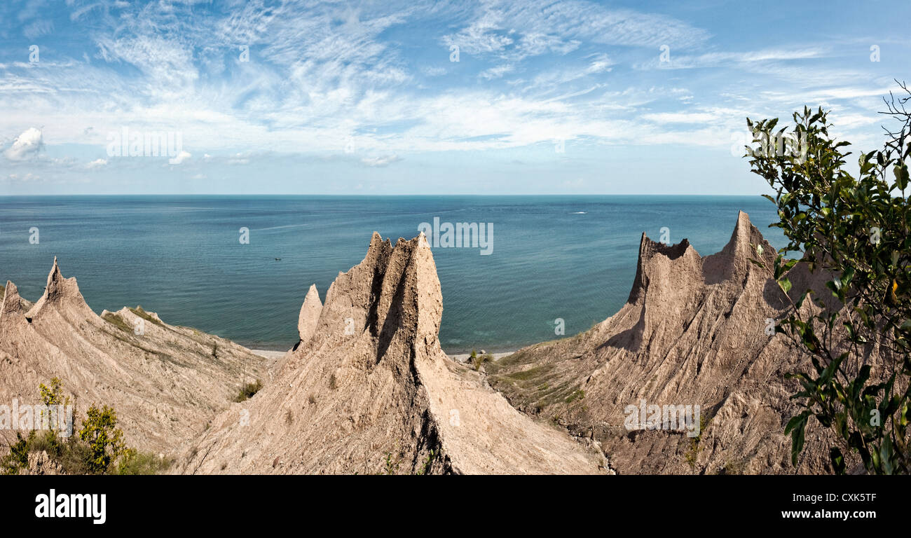 Chimney Bluffs State Park, New York Photo Stock