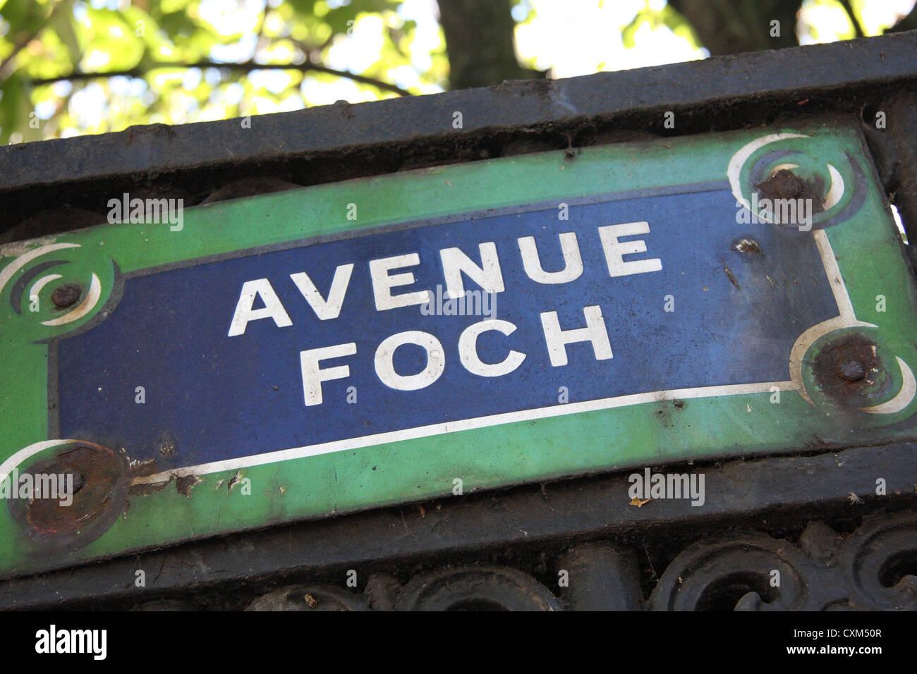 Point de référence de l'Avenue Foch à Paris Banque D'Images