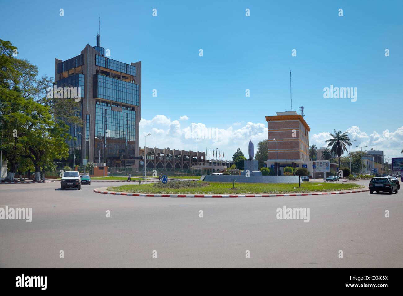 Rond Point de la Poste, Brazzaville, République du Congo, Afrique Photo Stock