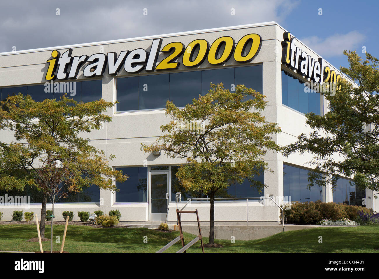 ITravel2000, agence de voyages l'emplacement des bureaux, Mississauga, Ontario, Canada Photo Stock