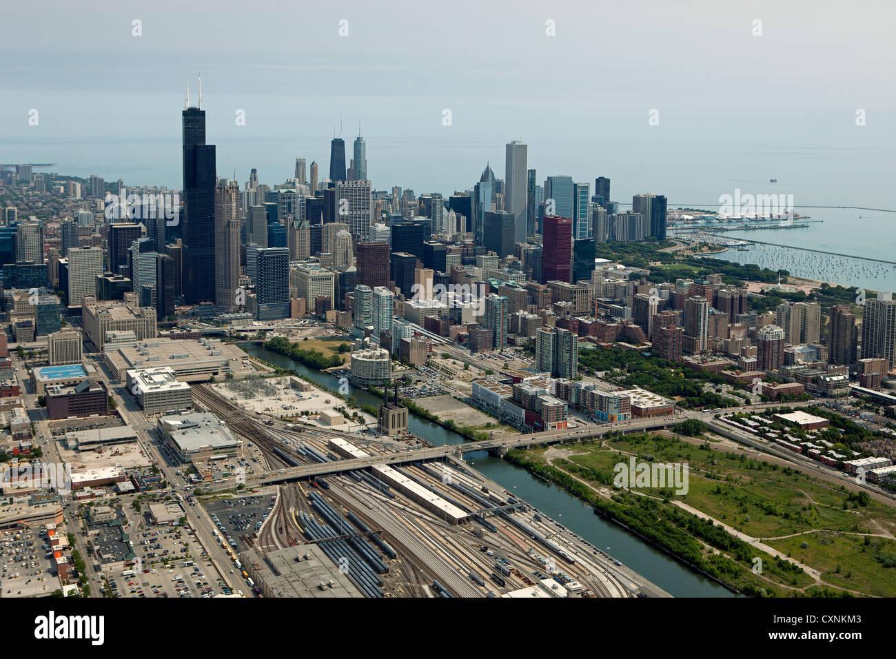 Photographie aérienne Chicago, Illinois Photo Stock