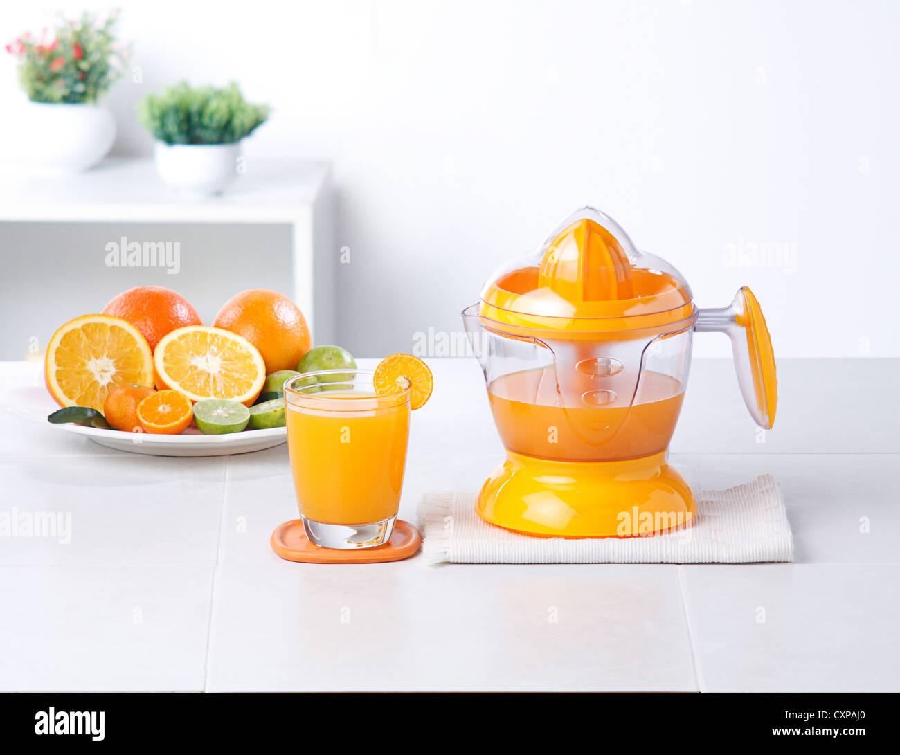 Outil de cuisine mélangeur de jus d'Orange Photo Stock