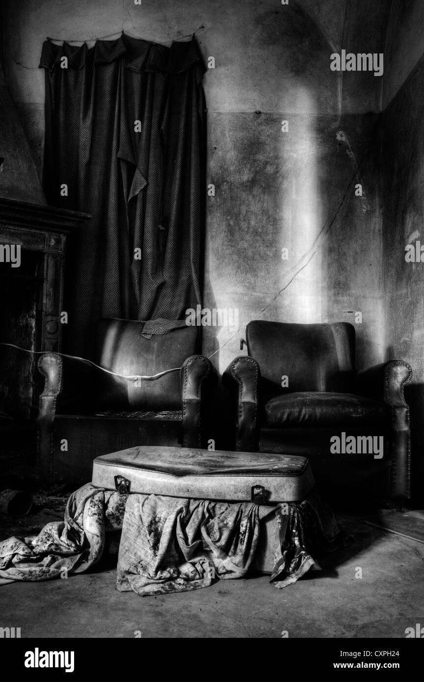 L'Italie. Prix de maison abandonnée Photo Stock